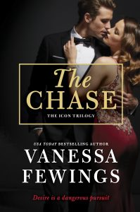 The Chase by USA Today Bestselling Romance Author Vanessa Fewings, book one in the Icon Trilogy