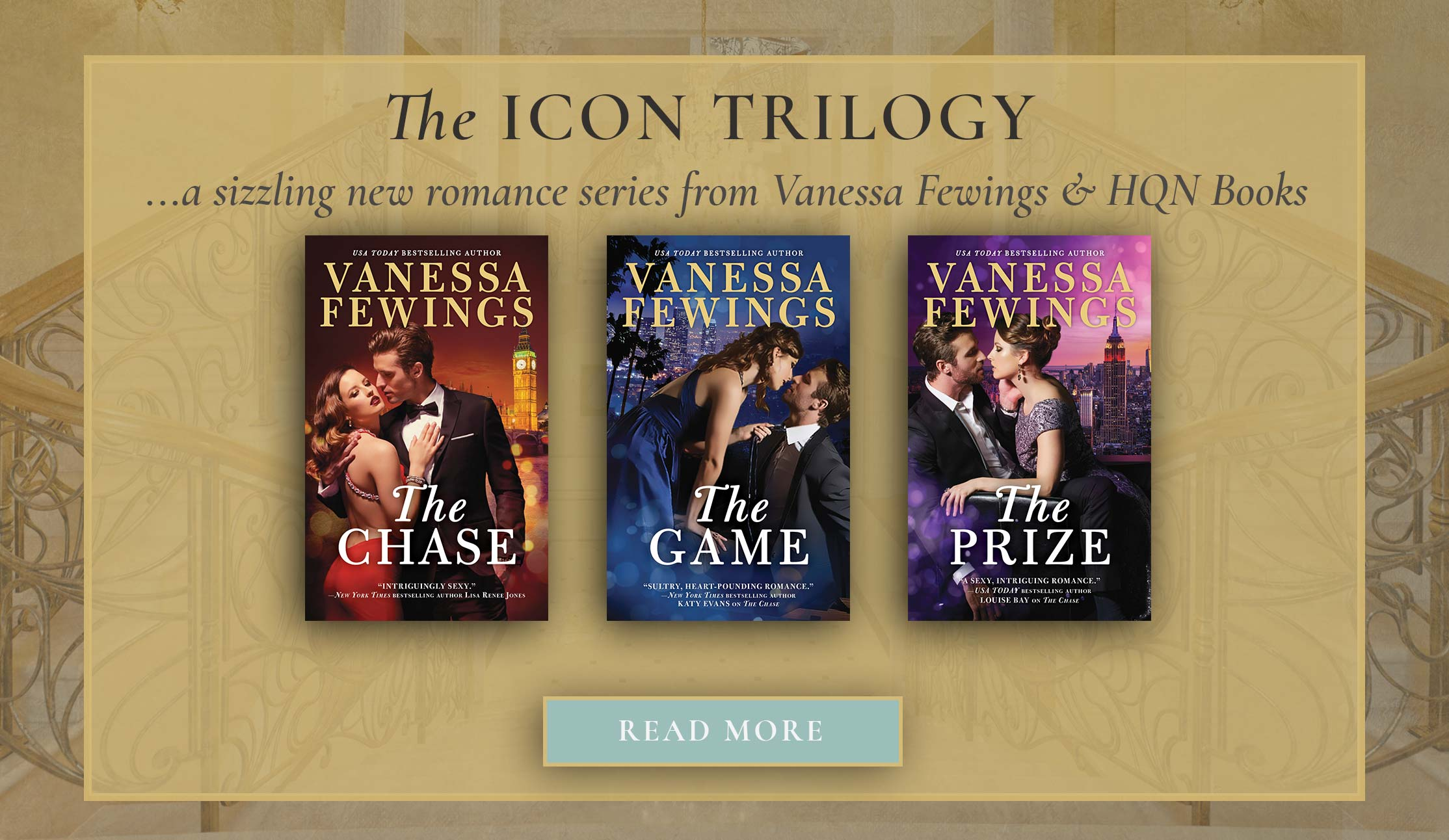 The Icon Trilogy - a sizzling new romance series from Vanessa Fewings and HQN Books