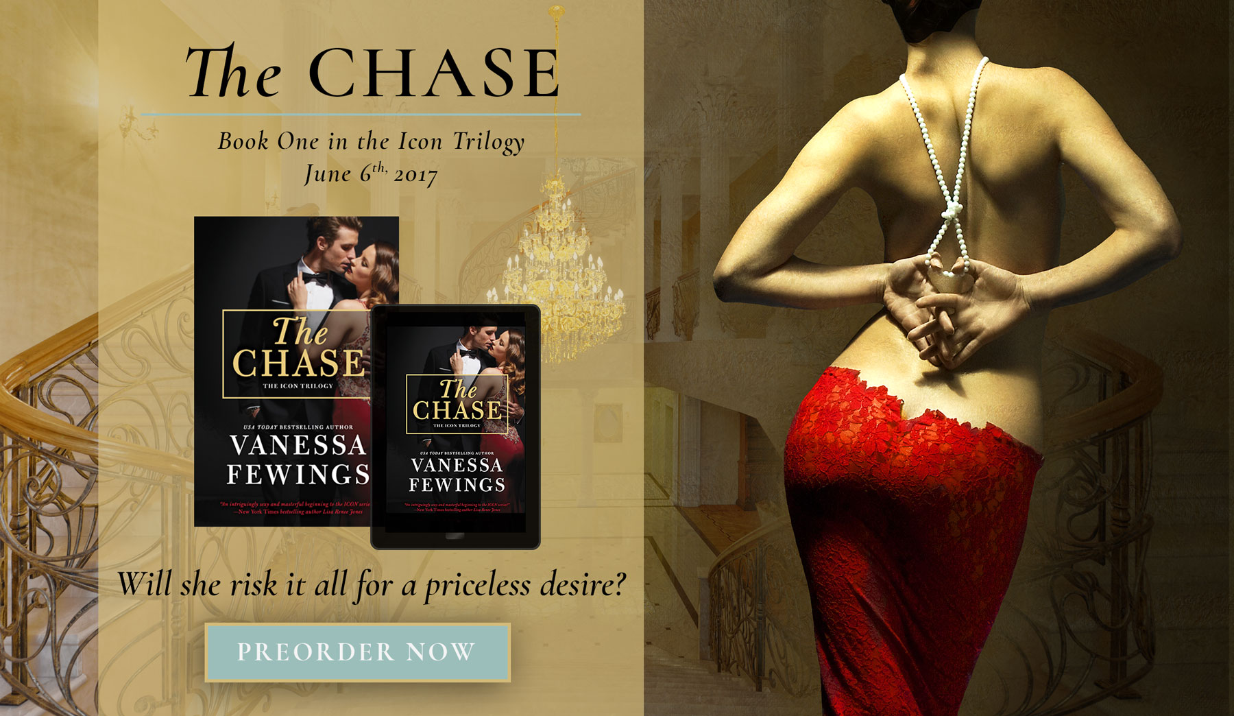 The Chase, book 1 in the Icon Trilogy by Vanessa Fewings